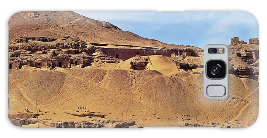 Aswan Galaxy S8 Case featuring the photograph Tombs Of The Nobles Aswan by Debbie Oppermann