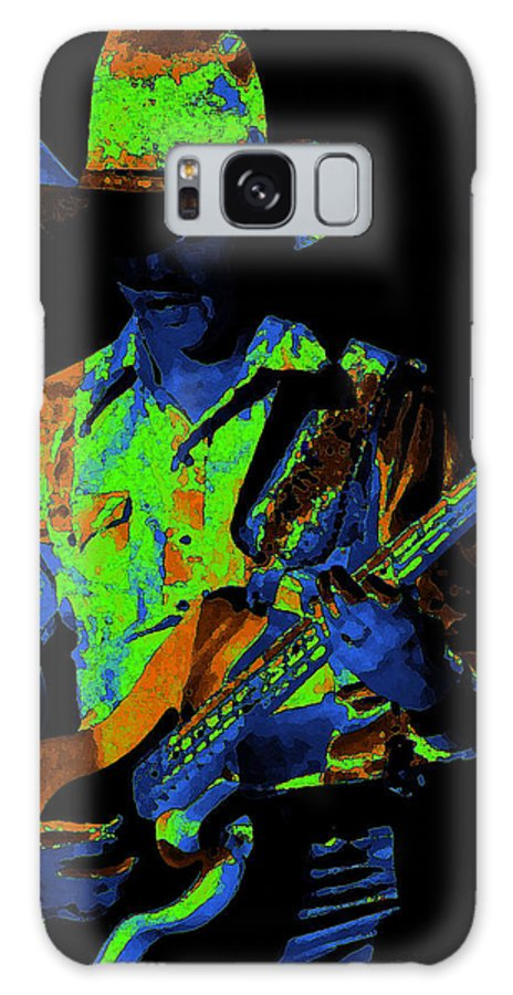 Marshall Tucker Band Galaxy S8 Case featuring the photograph Tommy Caldwell Jamming by Ben Upham