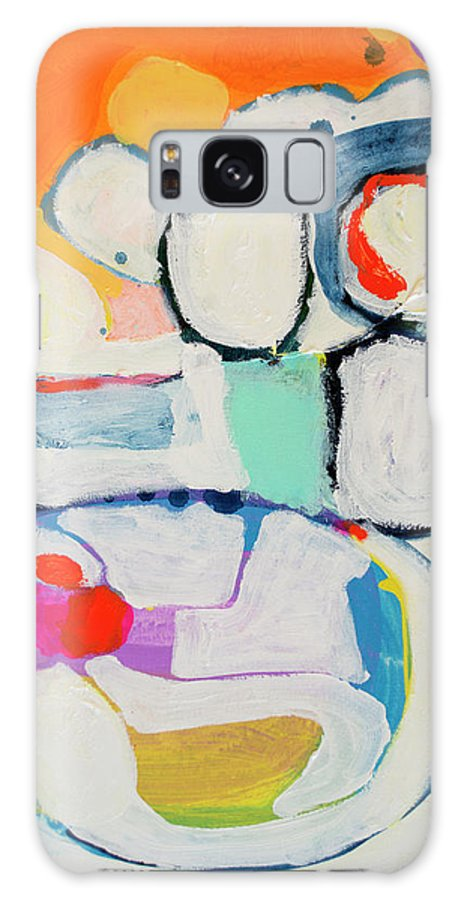 Abstract Galaxy Case featuring the painting Tongue Tied by Claire Desjardins