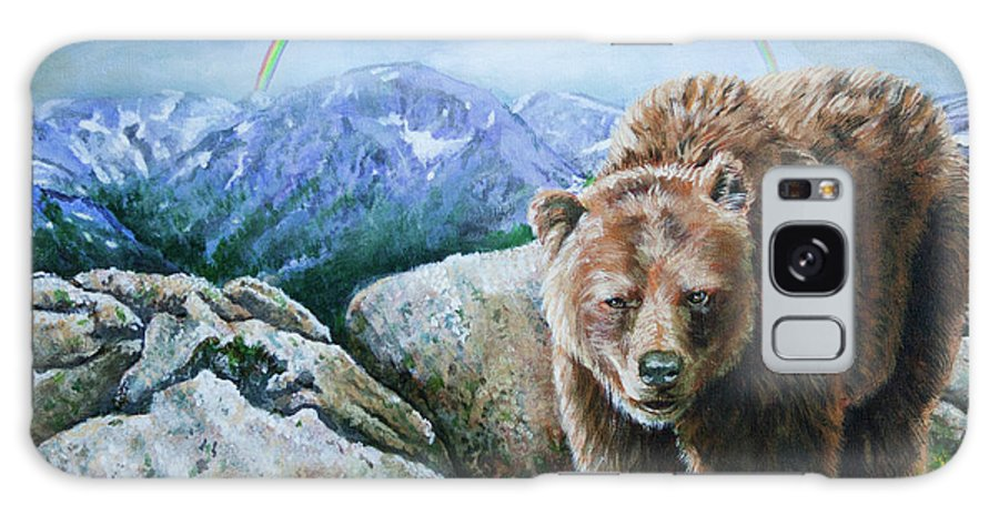 Bears Galaxy S8 Case featuring the painting Top Of The World by Karl Wagner