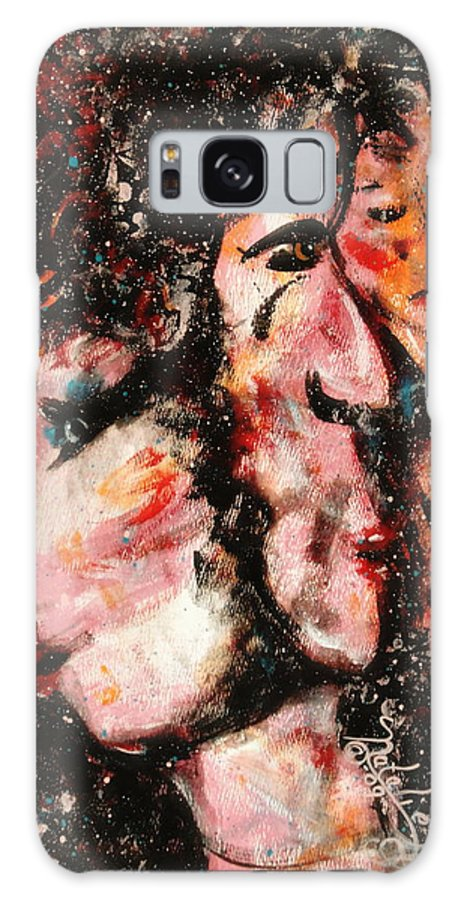 Free Expressionsim Galaxy S8 Case featuring the painting Torn Between Two Lovers by Natalie Holland
