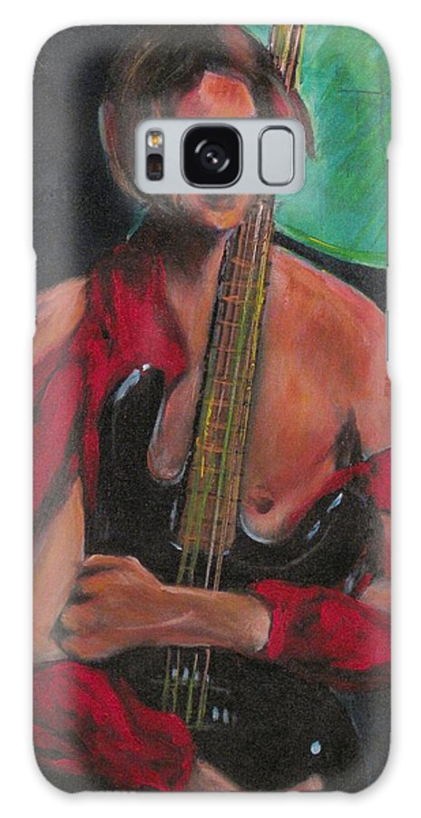 Music Galaxy S8 Case featuring the painting Torn Blues In Red by Dennis Tawes