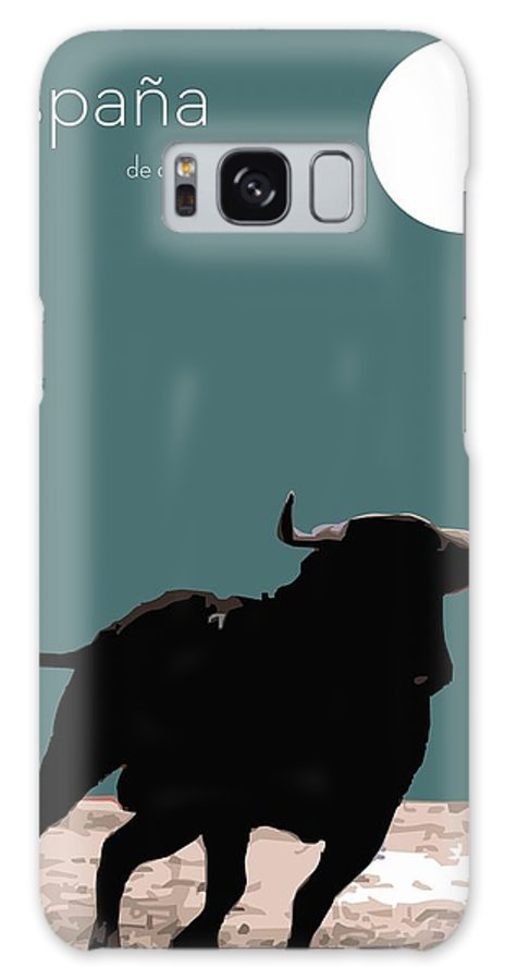 Toro Galaxy S8 Case featuring the digital art Toro Bravo by Quim Abella