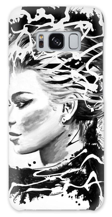 Black & White Galaxy Case featuring the painting Torrential I by Jill English
