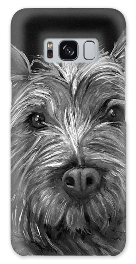 Dogs Galaxy S8 Case featuring the painting Tosha The Highland Terrier by Portraits By NC