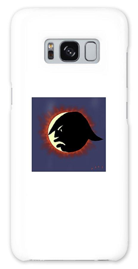 Sun Galaxy Case featuring the digital art Total Trump Eclipse by Kim Warp