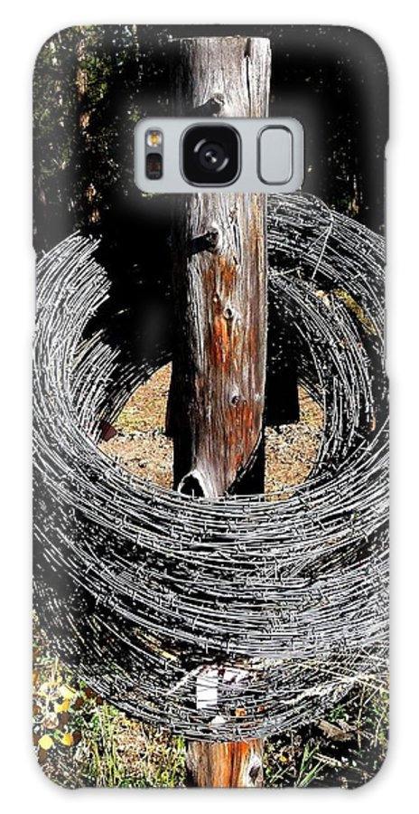 Barbed Wire Galaxy S8 Case featuring the photograph Totally Wired by Will Borden
