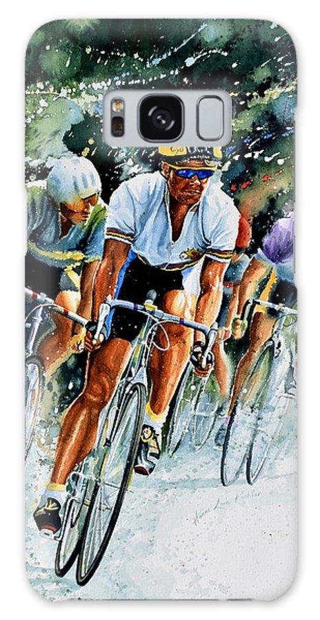 Tour De France Galaxy S8 Case featuring the painting Tour De Force by Hanne Lore Koehler