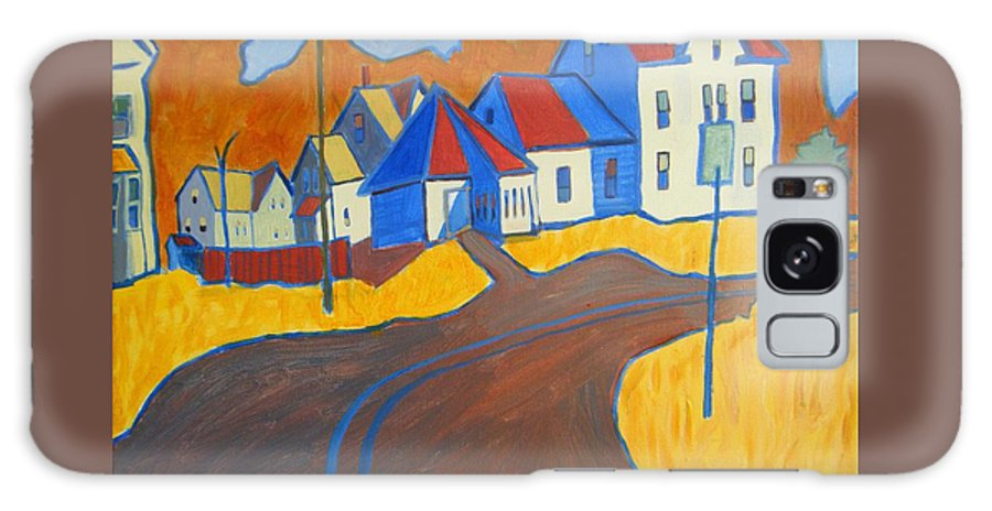 Buildings Galaxy S8 Case featuring the painting Town Center Plaistow Nh by Debra Bretton Robinson