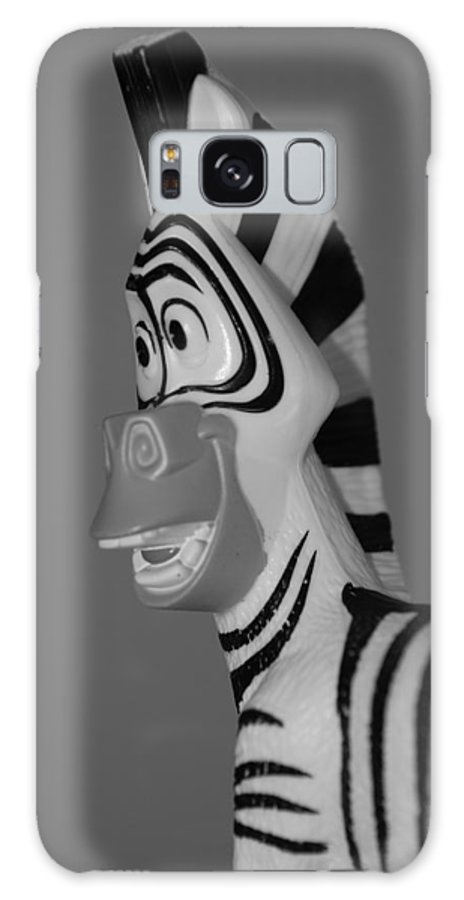 Black And White Galaxy Case featuring the photograph Toy Zebra by Rob Hans