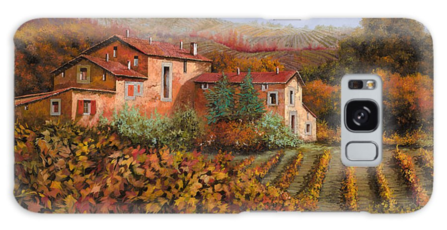 Wine Galaxy S8 Case featuring the painting tra le vigne a Montalcino by Guido Borelli
