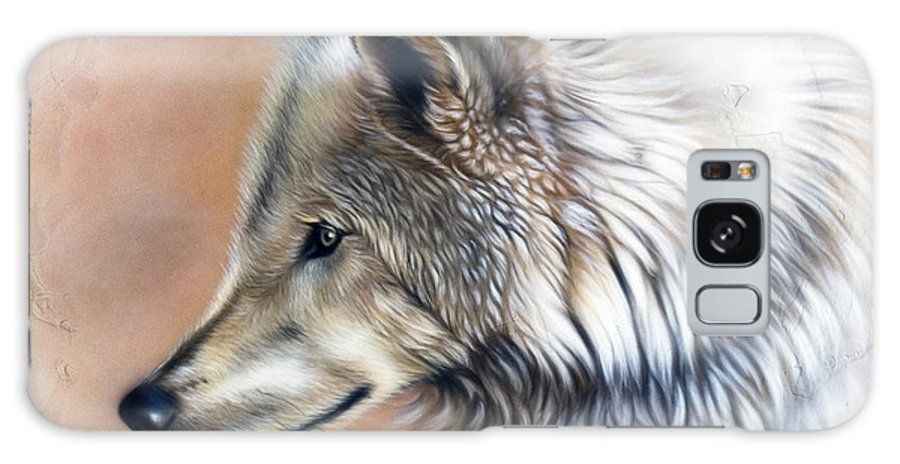 Wolves Galaxy Case featuring the painting Trace IIi by Sandi Baker