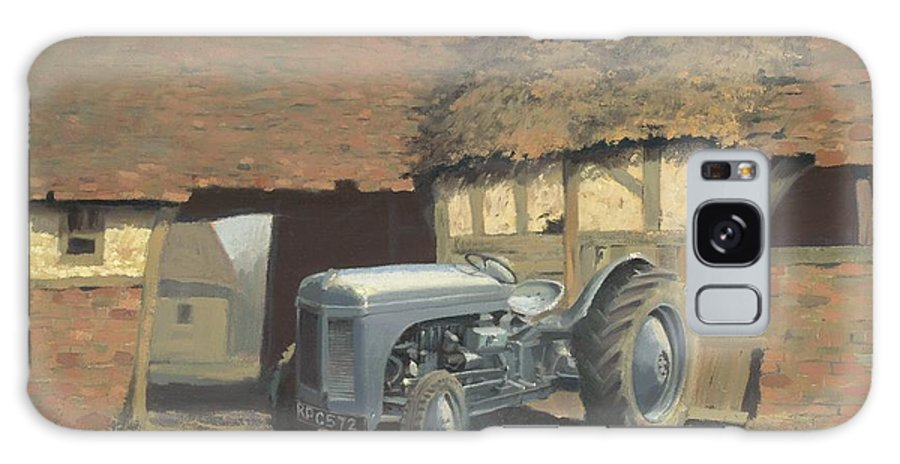 Tractor Galaxy S8 Case featuring the painting Tractor And Barn by Richard Picton