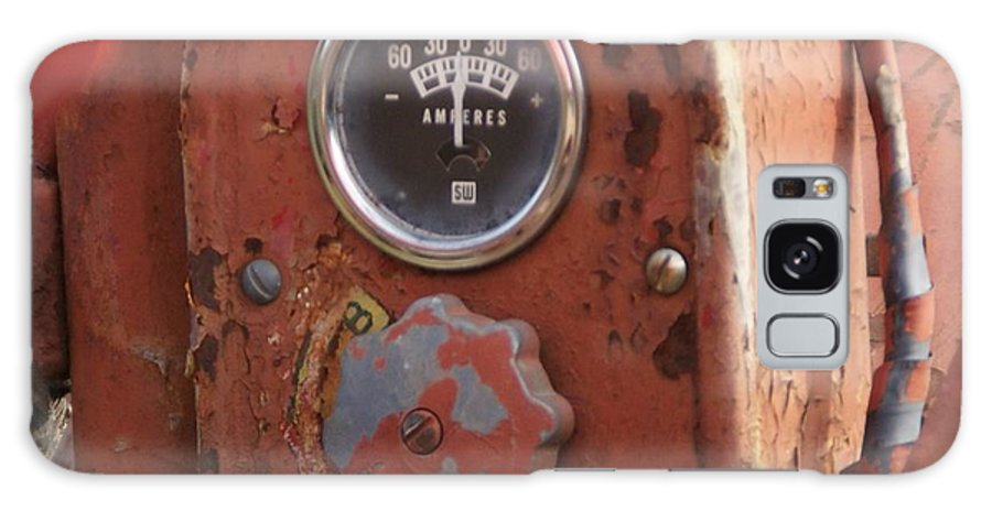 Farmall Tractor Galaxy Case featuring the photograph Tractor gage by Toni Berry