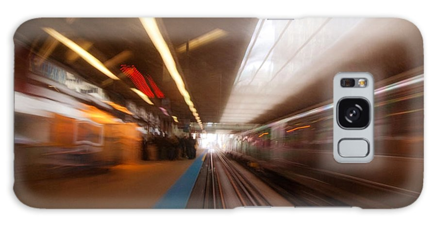 Train Galaxy Case featuring the photograph Train Station In Motion by Sven Brogren