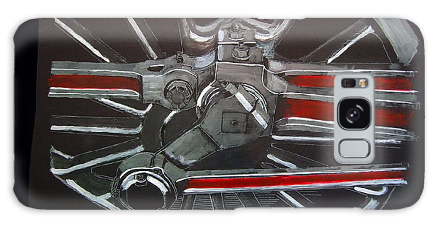 Trains Galaxy S8 Case featuring the painting Train Wheels 3 by Richard Le Page