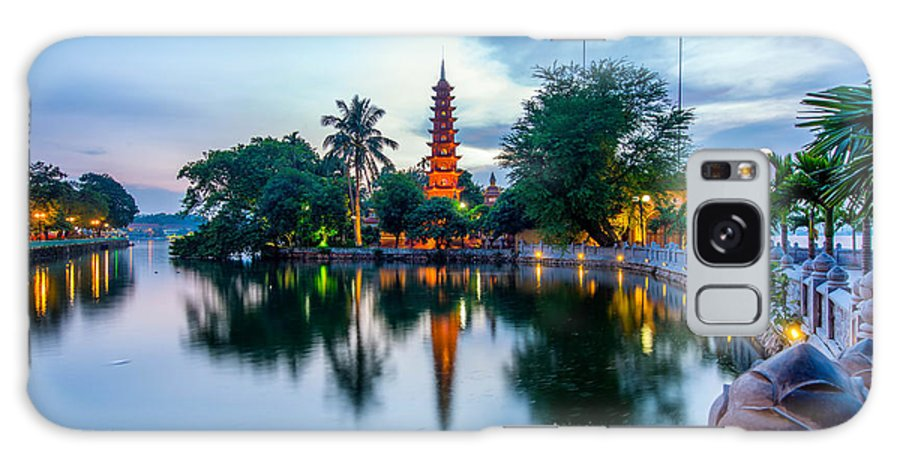 Background Galaxy S8 Case featuring the photograph Tran Quoc Pagoda by Dong Bui