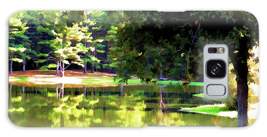 Tranquil Landscape At A Lake Galaxy S8 Case featuring the digital art Tranquil Landscape At A Lake 1 by Jeelan Clark
