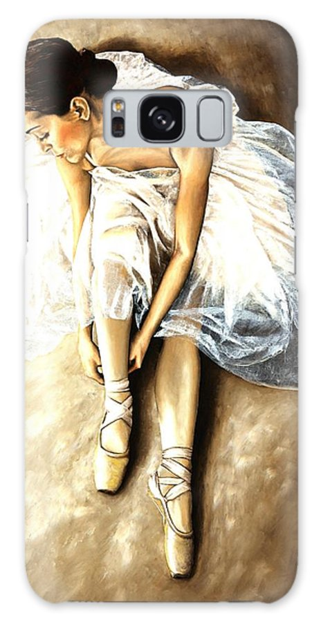 Ballet Galaxy S8 Case featuring the painting Tranquil Preparation by Richard Young