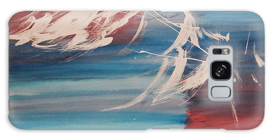 Tranquility Galaxy Case featuring the painting Tranquilidad 2 by Lauren Luna