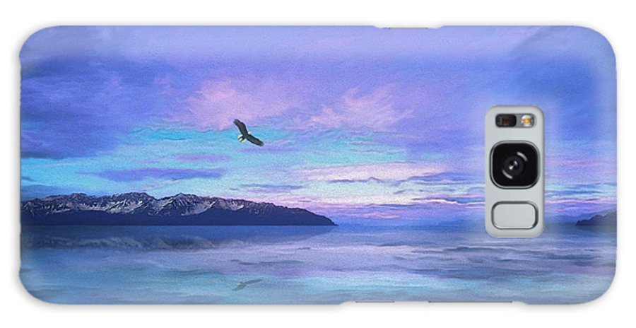Purple Sky Galaxy S8 Case featuring the painting Tranquility At Dawn by Todd L Thomas