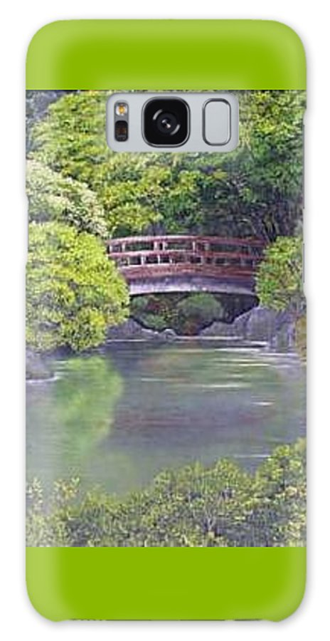 This Peaceful Scene Is An Artist's Rendition Of The Japanese Gardens Galaxy S8 Case featuring the painting Tranquility by Darla Boljat