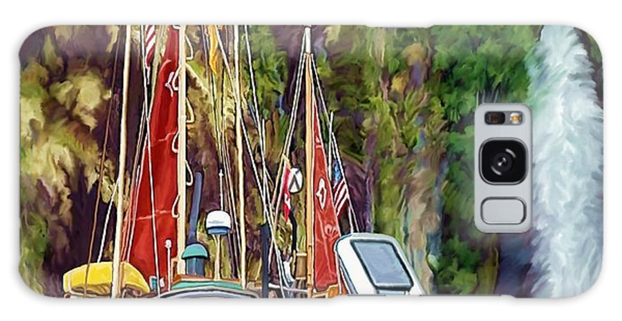Boats Galaxy S8 Case featuring the painting Tranquility by David Wagner