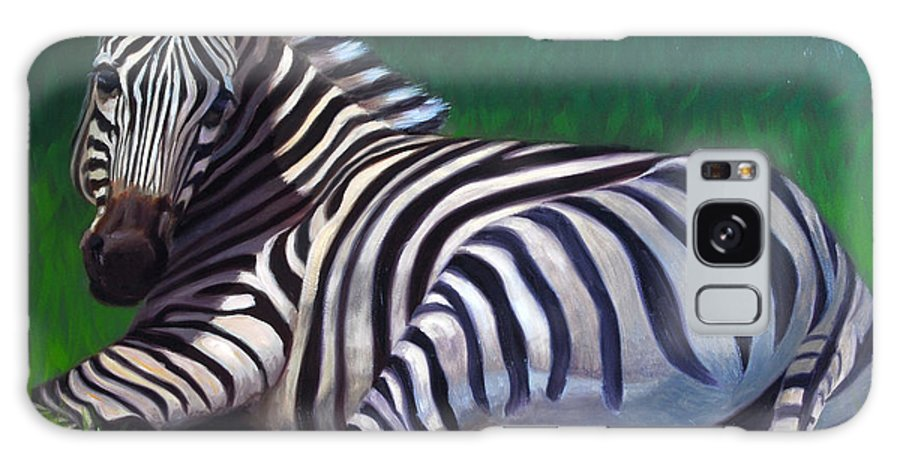 Zebra Galaxy Case featuring the painting Tranquility by Greg Neal