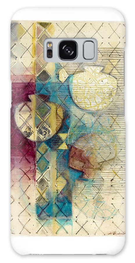 Mixed-media Galaxy Case featuring the painting Trans Xs No 1 by Kerryn Madsen- Pietsch