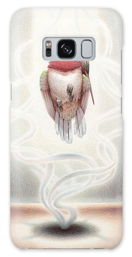 Hummingbird Galaxy S8 Case featuring the drawing Transcendent Flight by Amy S Turner