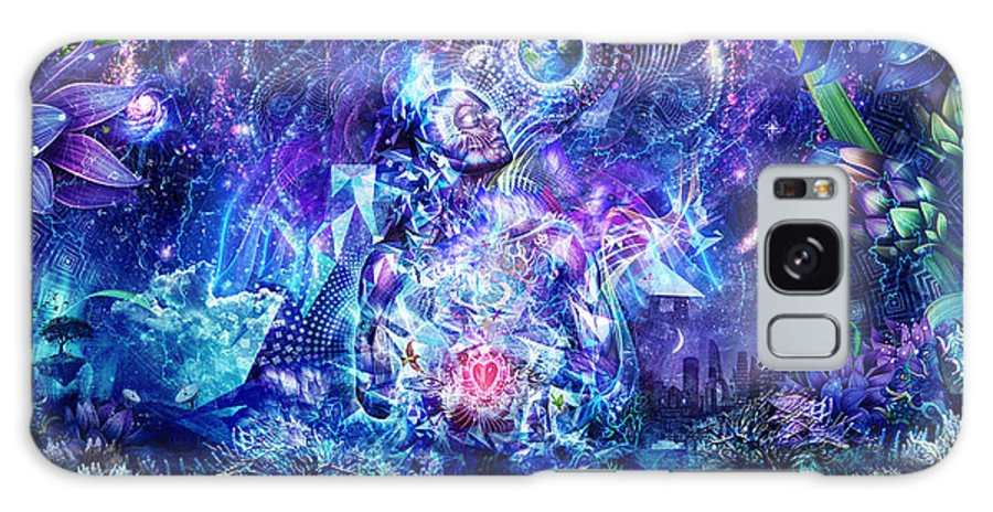 Blue Galaxy S8 Case featuring the digital art Transcension by Cameron Gray