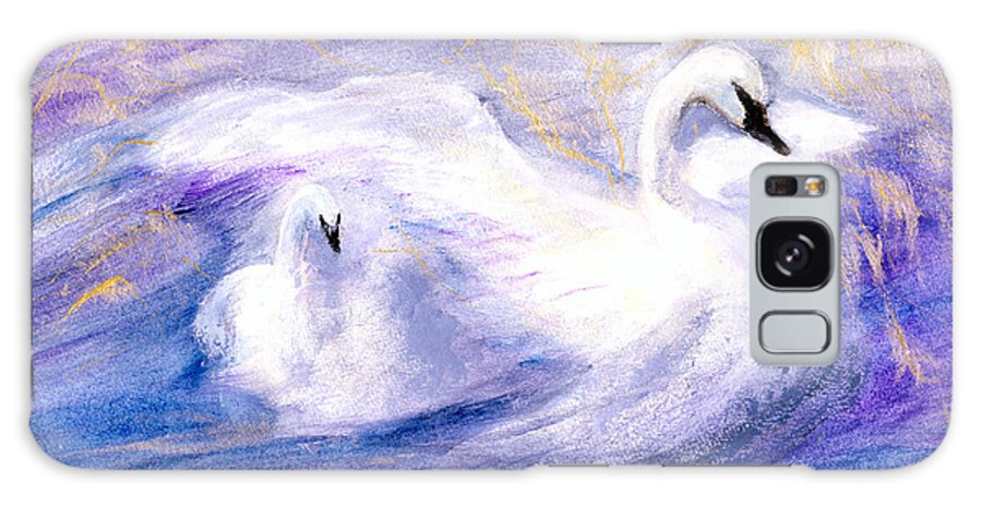 Birds Galaxy Case featuring the painting Transformation by Gail Kirtz