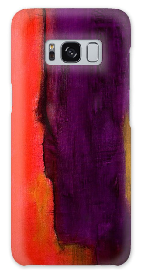 Abstract Galaxy Case featuring the painting Transition by Laura Warburton