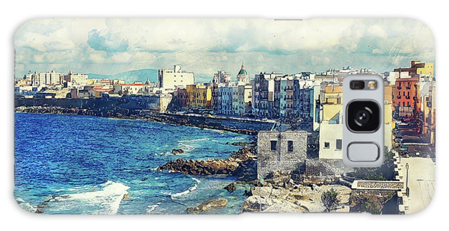 Trapani Galaxy S8 Case featuring the painting Trapani Art 19 Sicily by Justyna JBJart