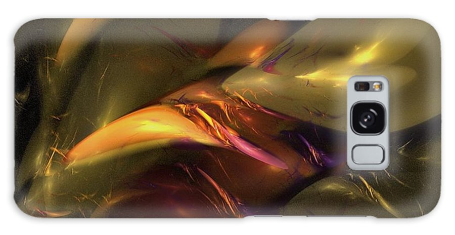 Amber Galaxy S8 Case featuring the digital art Trapped In Amber by NirvanaBlues