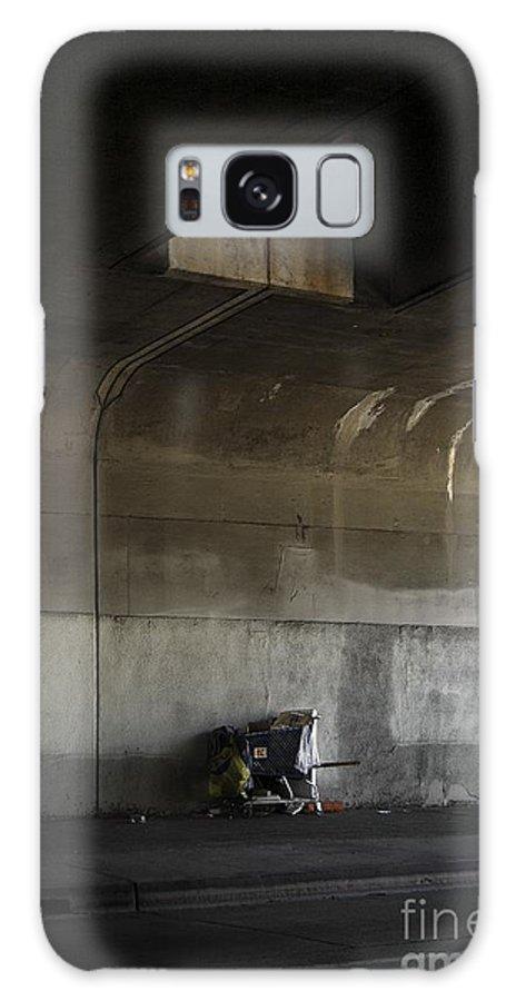 Rural Galaxy S8 Case featuring the photograph Trash Under Bridge. by Viktor Savchenko