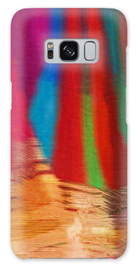 Abstract Galaxy S8 Case featuring the photograph Travel Shopping Colorful Scarves Abstract Series India Rajasthan 1b by Sue Jacobi