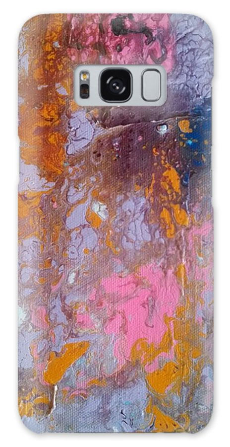 Abstract Galaxy S8 Case featuring the painting Travel To Heaven by Miguel Tomasini