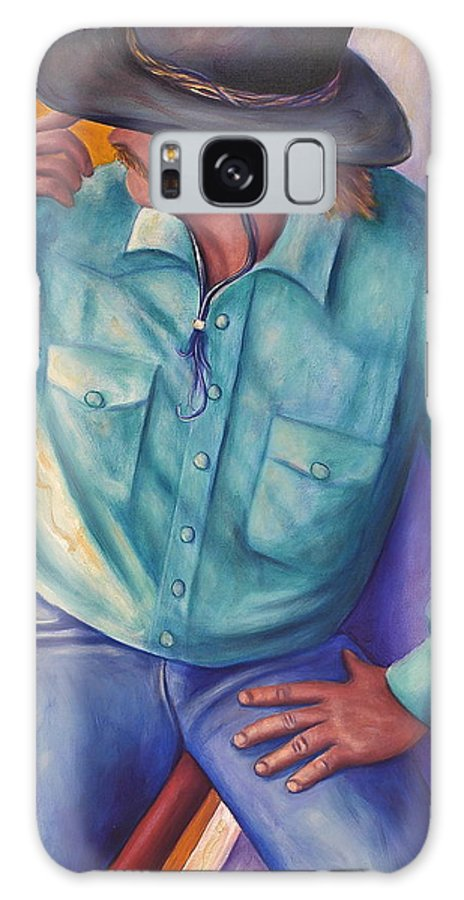 Cowboy Galaxy Case featuring the painting Travelin Man by Shannon Grissom
