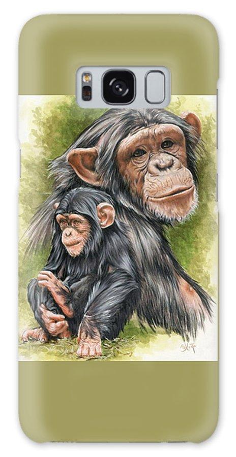 Chimpanzee Galaxy S8 Case featuring the mixed media Treasure by Barbara Keith