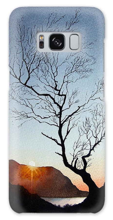 Landscape Galaxy Case featuring the painting Tree Above Crummock Water by Paul Dene Marlor