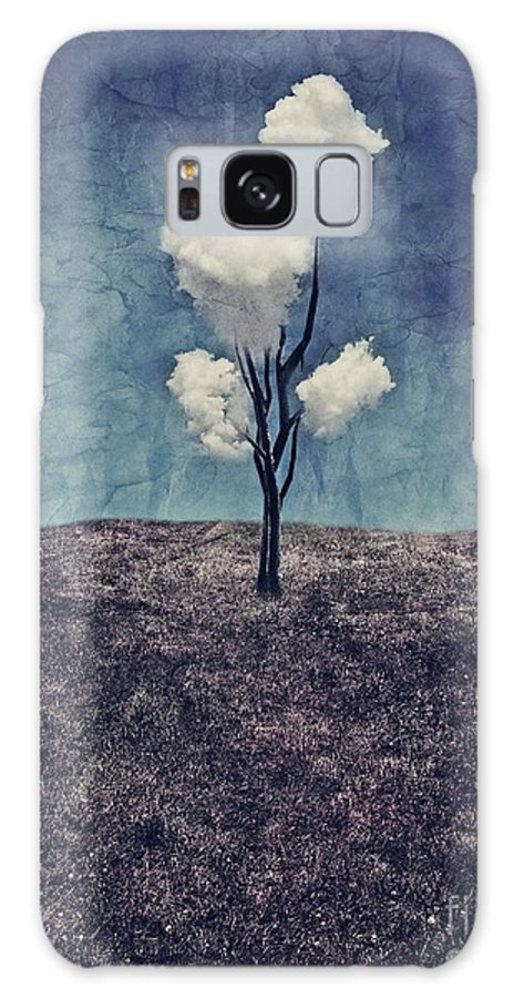 Tree Galaxy Case featuring the digital art Tree Clouds 01d2 by Aimelle