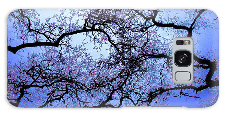 Scenic Galaxy S8 Case featuring the photograph Tree Fantasy In Blue by Lee Santa