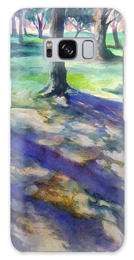 Tree Galaxy S8 Case featuring the painting Tree Line by Julie Morrison