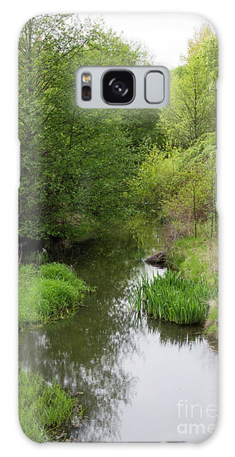 Portrait Galaxy S8 Case featuring the photograph Tree Mirror In Stream 2 by Donna Munro