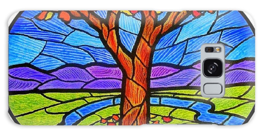 Tree Galaxy S8 Case featuring the painting Tree Of Grace - Autumn by Jim Harris