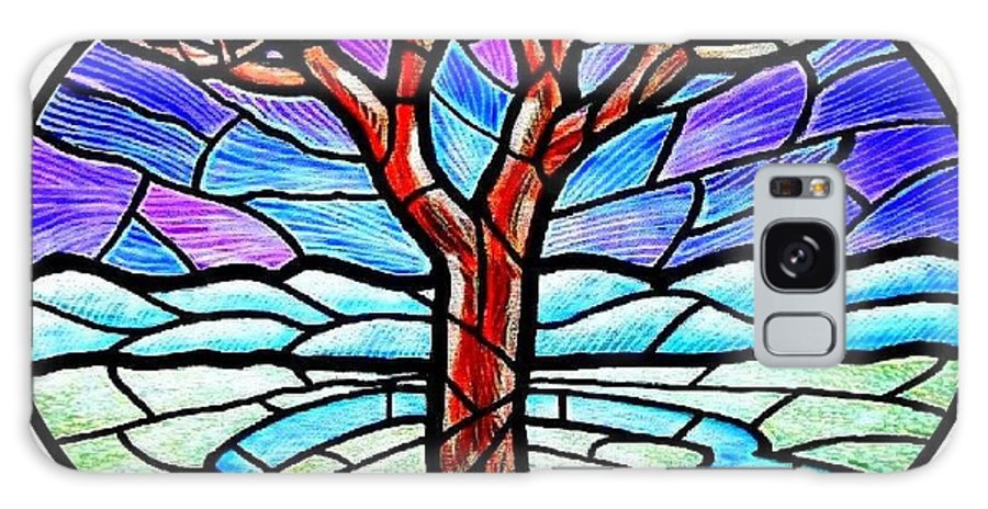 Tree Galaxy S8 Case featuring the painting Tree Of Grace - Winter by Jim Harris