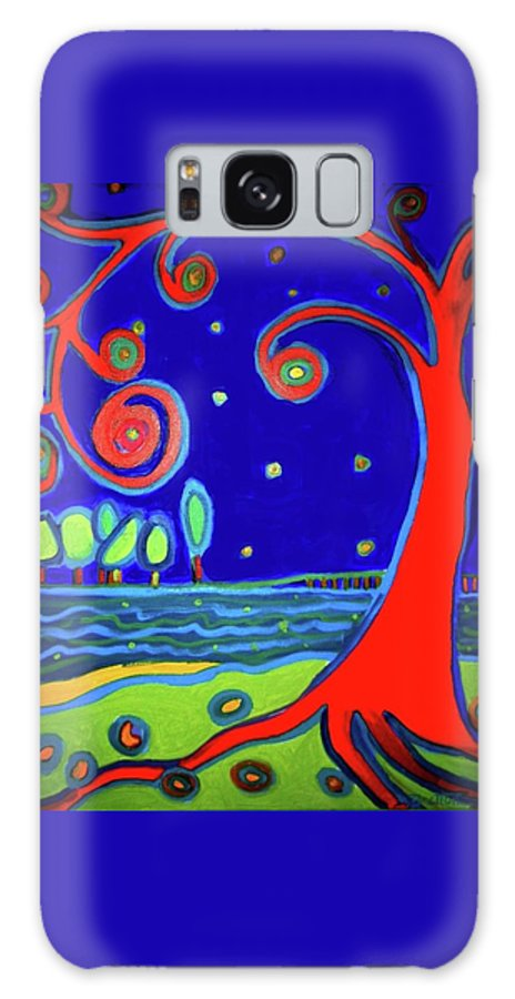Manchester-by-the-sea Galaxy Case featuring the painting Tree of Life Manchester-by-the-sea by Debra Bretton Robinson
