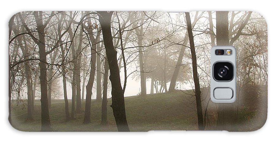 Nature Galaxy S8 Case featuring the photograph Trees In Fog by Carol Sweetwood