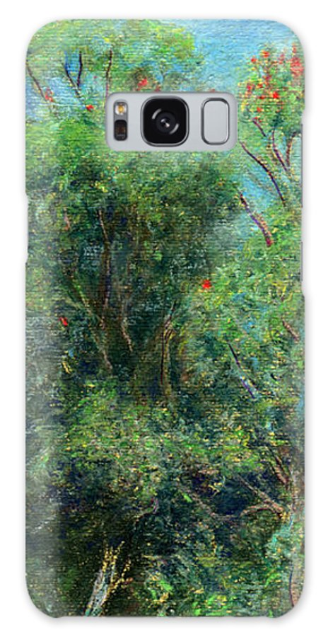 Rainbow Colors Pastel Galaxy Case featuring the painting Trees Of Kokee by Kenneth Grzesik